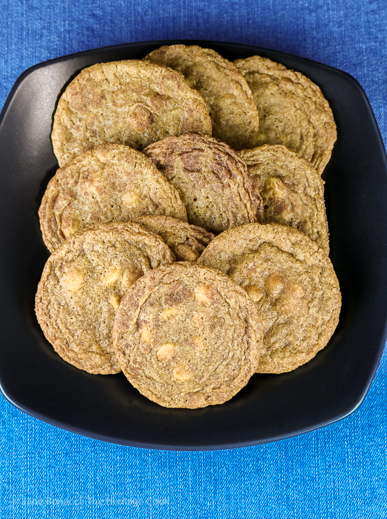 White Chocolate Snickerdoodles © 2019 Jane Bonacci, The Heritage Cook
