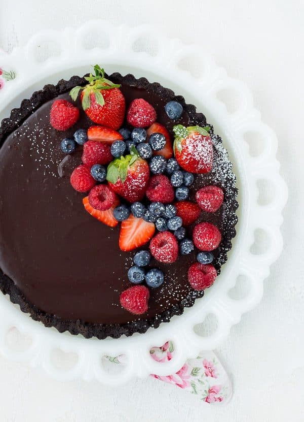 No Bake Chocolate Tart; Collection of 7 of the Best Chocolate Pies and Tarts; compiled by Jane Bonacci, The Heritage Cook