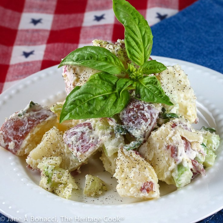Creamy Basil Lemon Potato Salad (Gluten Free)