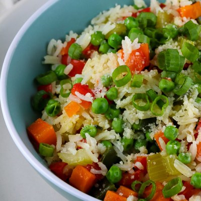 Easy Vegetable Loaded Rice (Gluten Free)