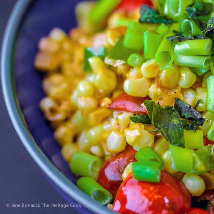 Maque Choux - Creamed Corn and Tomatoes