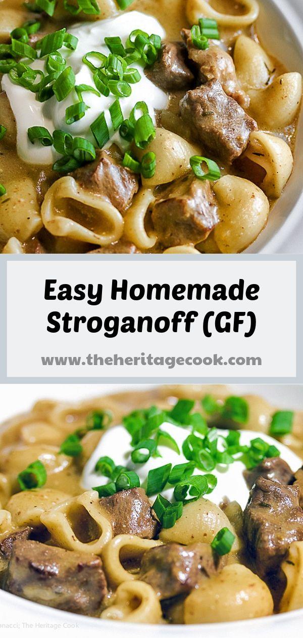 Easy Homemade Gluten Free Beef Stroganoff © 2017 Jane Bonacci, The Heritage Cook