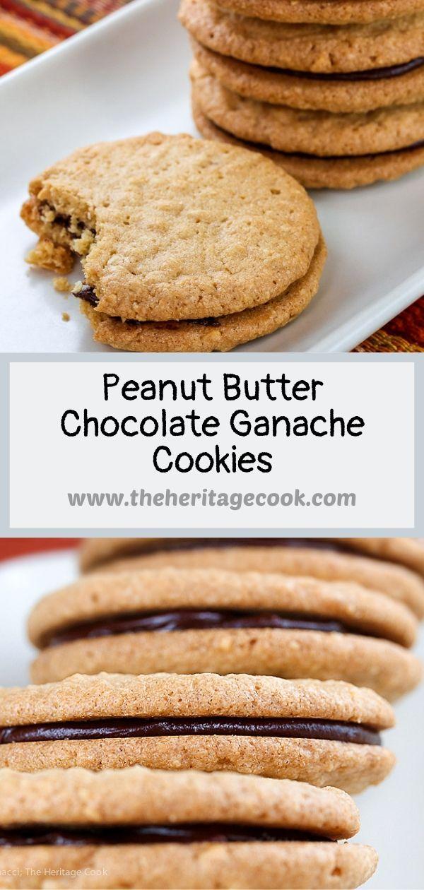 Peanut Butter Ganache Sandwich Cookies © 2019 Jane Bonacci, The Heritage Cook