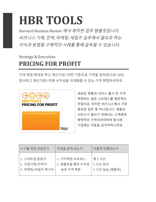 HBR Tool_Pricing for Profit