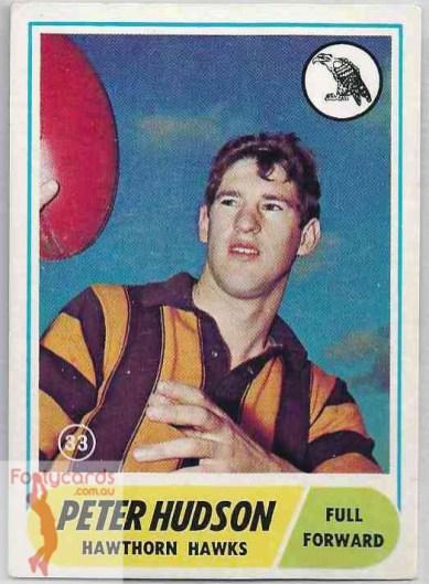 1969 Peter Hudson: $75