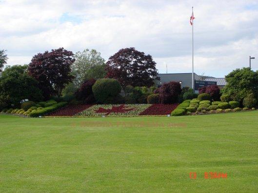 Canada Flag Garden at Canada (Surrey, BC) and USA (Washington, DC) Border