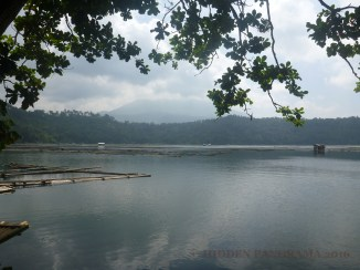 Calibato Lake with Mount Banahaw