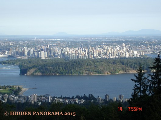 Vancouver Downtown Skyline from Cypress Mountain
