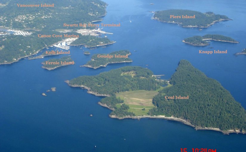 View At My Window : Some British Columbia Islands