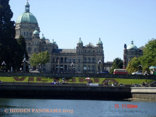 View in Victoria Inner Harbor from Stellar boat