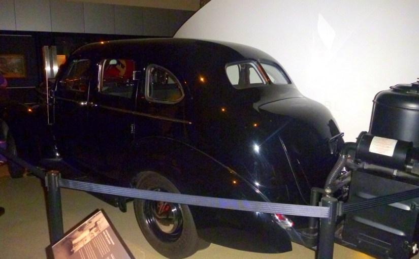 Transportation : 1940 Studebaker Commander Sedan with gas producer