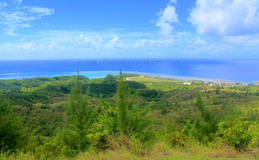 Panoramic View : Fish Eye Marine Park and Asan Beach Park with Nimitz Hillside