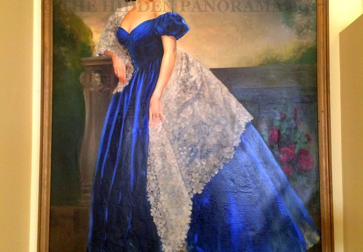 Arts and Craft : Scarlett in Blue Dress By Helen Carlton