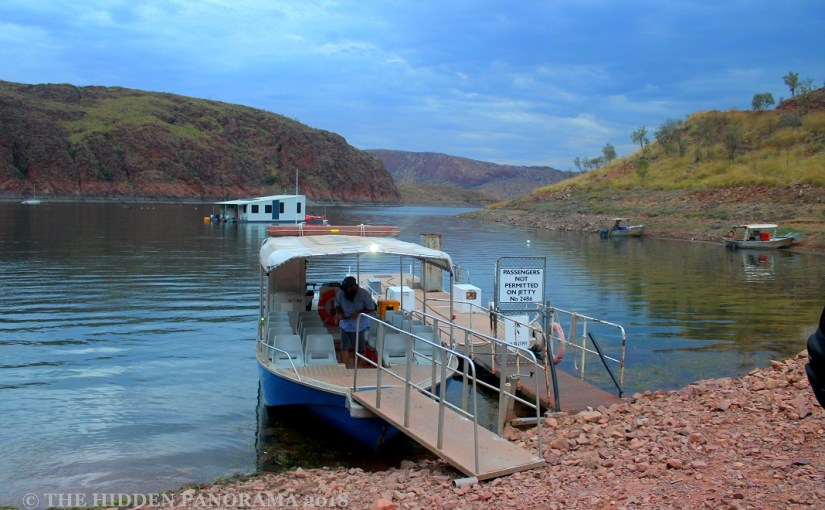 Transportation : Lake Argyle, WA – Cruising Boat at the Jetty