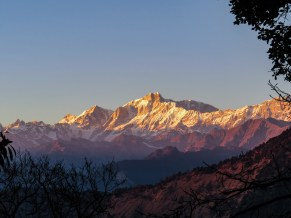 Kedar peaks at sunset