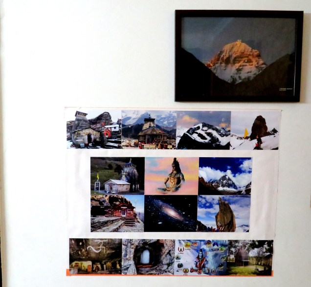 Pictures posted on wall related to Shiva
