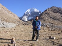In front of Kailash North face