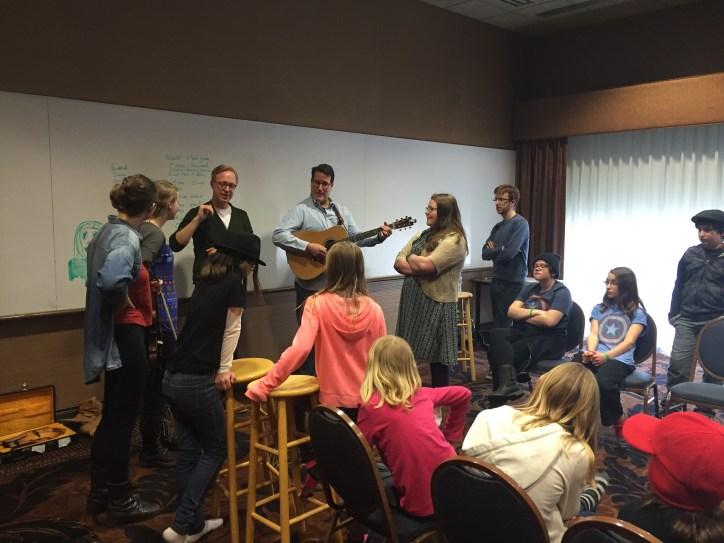 The High 48s Teaching Bluegrass at Grass Seeds Music Academy