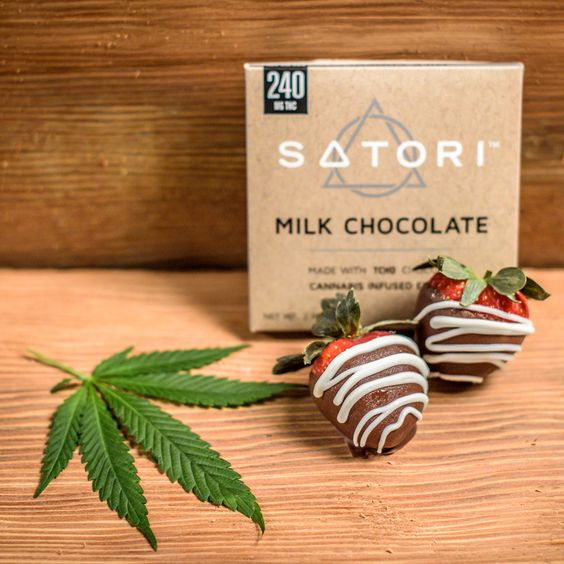 cannabis strawberries milk chocolate