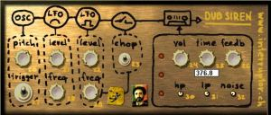 simple synthesizer architecture with 1 Oscillator and 2 independent LFOs