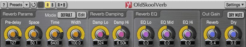 OldSkool Verb Mac and Windows vintage plugin VST