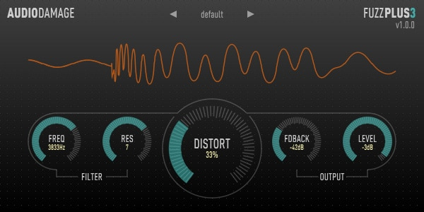 FuzzPlus3 is based on a vintage fuzz pedal model.