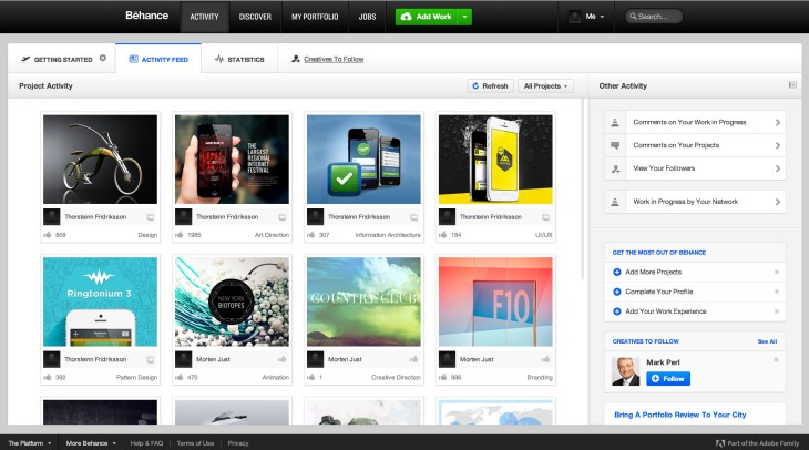 Behance offers a great oppurtunity for artists to share their work