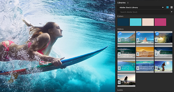Adobe Stock is fully integrated within Photoshop