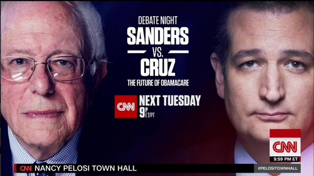 Sanders, Cruz to face off in debate over future of ObamaCare