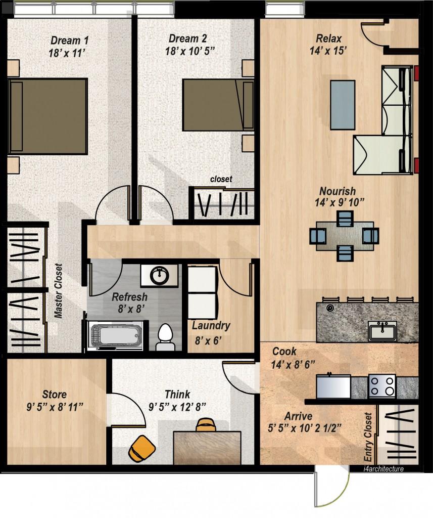 2 Bedroom Den Condo Layout The Hillcrest Condos