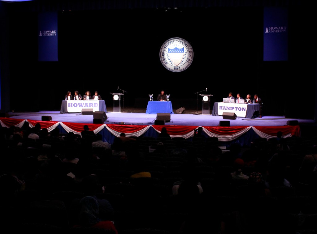 "The 2016 AT&T Nation's Classic ""Game Before The Game"" #TheRealHUDebate was held at Cramton Auditorium, Friday, Sept. 16. (Photo Credit: Paul Holston, Editor-in-Chief/The Hilltop)"