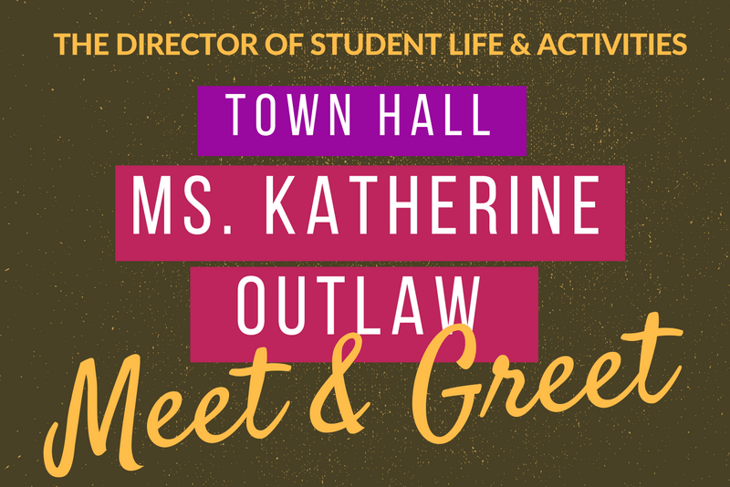 New Director of Student Life and Activities Holds Town Hall Meeting