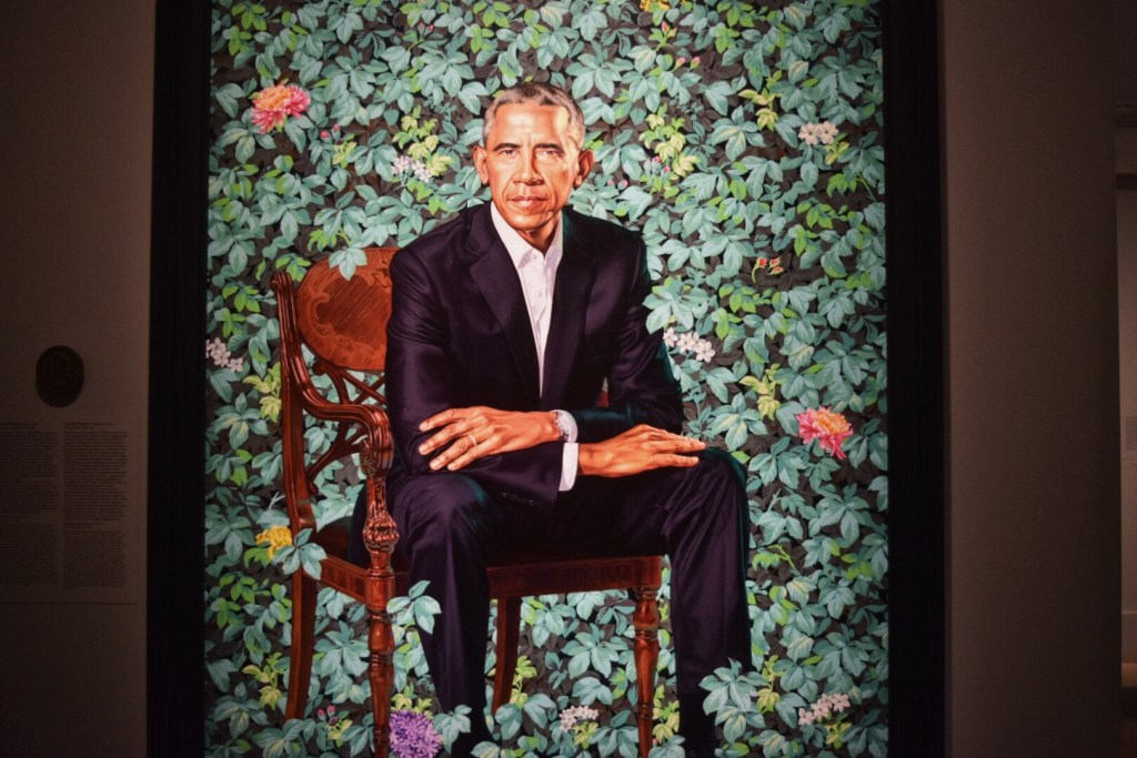 IN PICTURES: Portraits of President and Mrs. Obama at the National Portrait Gallery