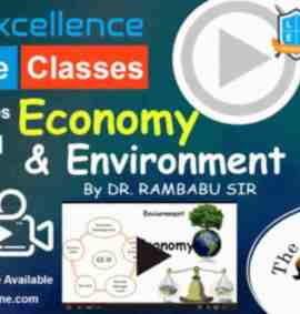 Video Course of GS Economy And Environment For UPSC Pre Cum Mains