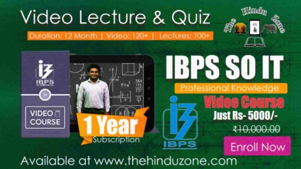 Video Course of IBPS SO IT Professional Knowledge