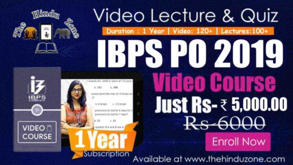 Video Lecture of IBPS PO 2019 – 01 Year Subscription