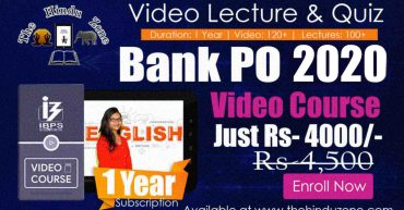 Video Course of Bank PO 1 Year Video Course