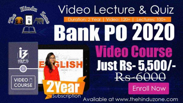 Video Course of Bank PO 2020