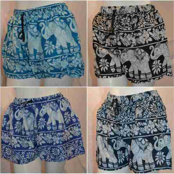 Cotton Elephant Indian Summer Shorts collage