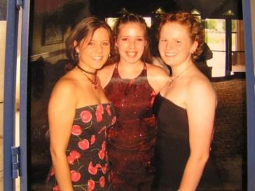 Laura, Tara, and I at our band banquet Junior year
