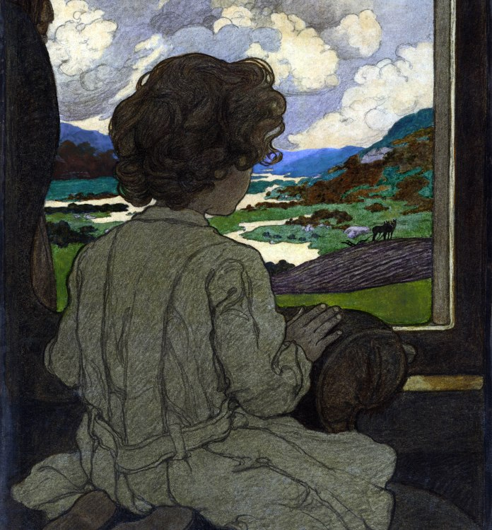 """The Journey"" (cropped) painted by Elizabeth Shippen Green (1871–1954), [Public Domain] via Creative Commons"