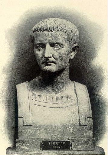 Photograph of a Tiberius Bust located at Herculaneum, [Public Domain] via Creative Commons