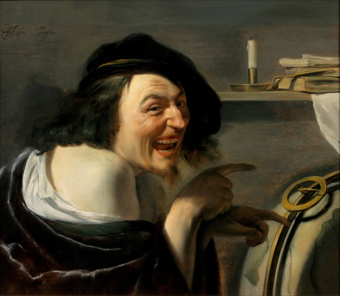 painting of Democritus, by Johannes Moreelse (after 1602–1634), [Public Domain] via Creative Commons.jpg
