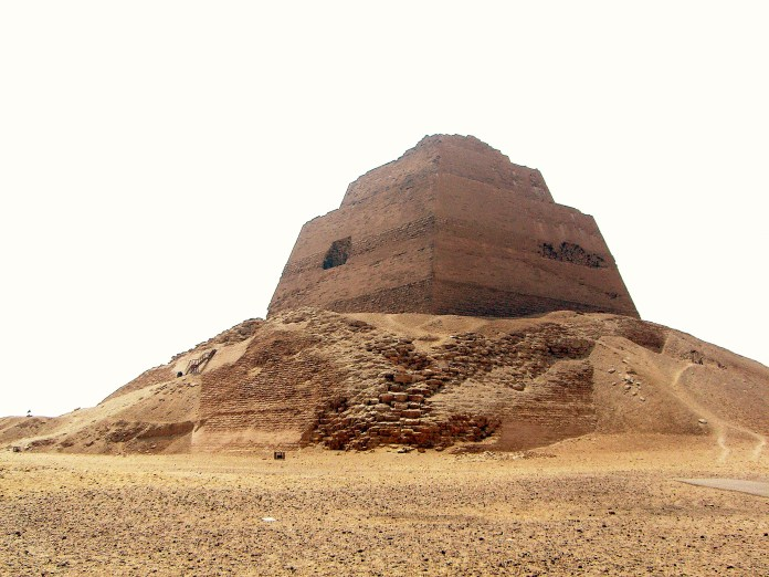 Photograph of the Meidum pyramid in Egypt, [Public Domain] via Creative Commons.jpg