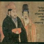 Confucius on enquiry quotepic