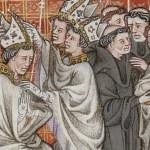 social media crop Ordination of Abbot Hugh of Saint-Denis from the Chroniques de France ou de St Denis, c. 14th century, [Public Domain] via Creative Commons