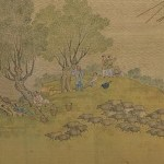 Social media crop section of the Qing Court edition of Along the River During the Qingming Festival Season, by 5 Qing court artists and was completed in 1736, [Public Domain] via Creative Commons