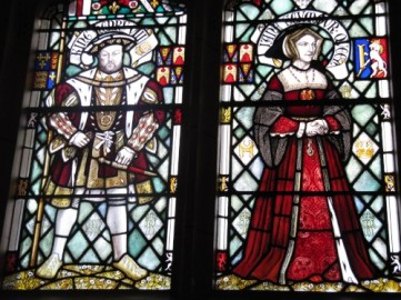 Henry VIII and Jane Seymour. Although Henry had six wives, it was third wife Jane who he considered to have been his most loved and 'true' wife. Incidentally she was the only one who birthed him a living son. She died shortly after the event, leaving Henry no time at all to grow bored of her and securing her position in his affections. Window at Cardiff Castle