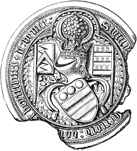 Seal_WalterHungerford_1stBaronHungerford_KG_Died1449.png