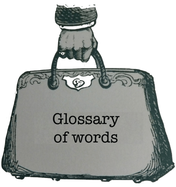 glossary of words